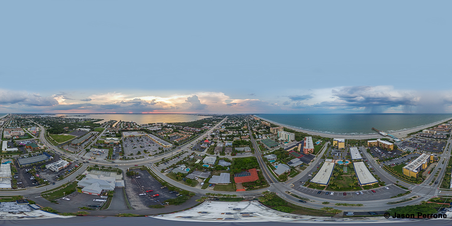 Cocoa Beach Aerial 360 Panoramic