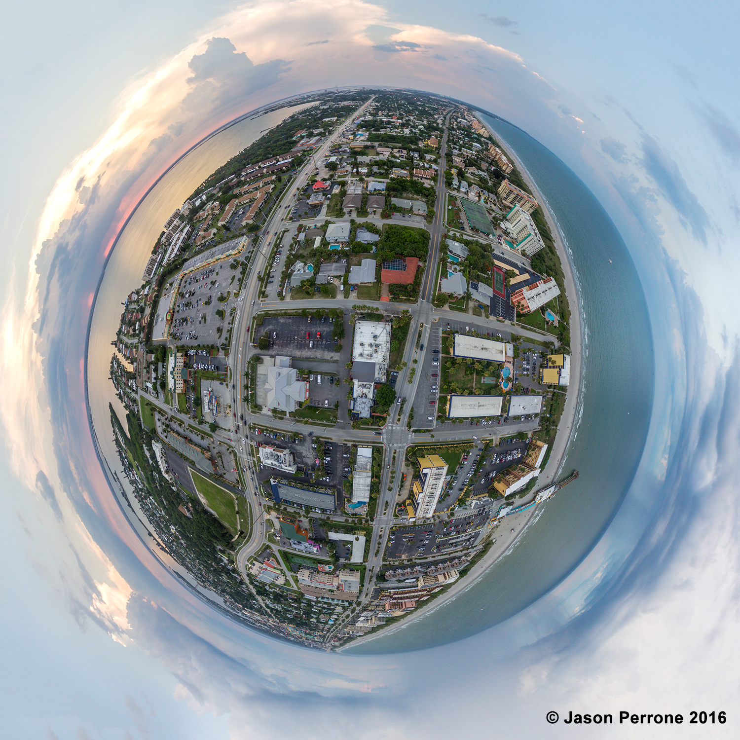 Cocoa Beach Aerial 360 Little Planet