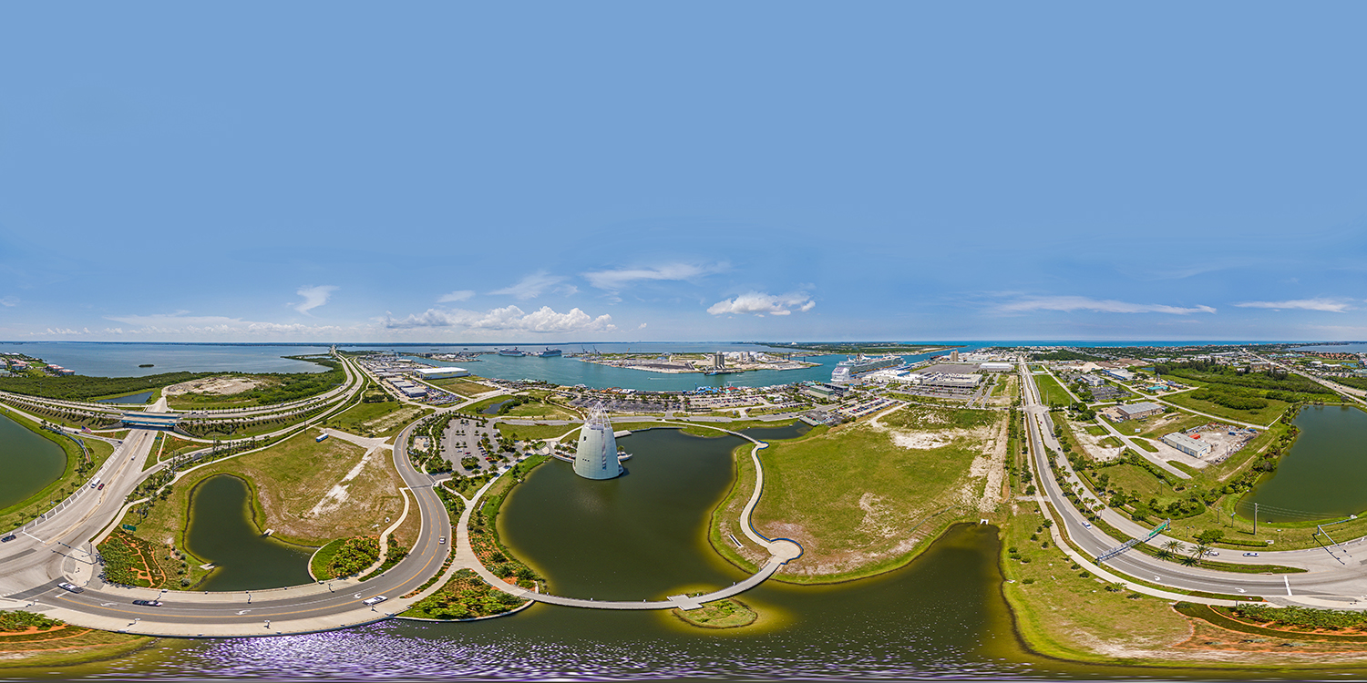 Port Canaveral Aerial 360 Panoramic