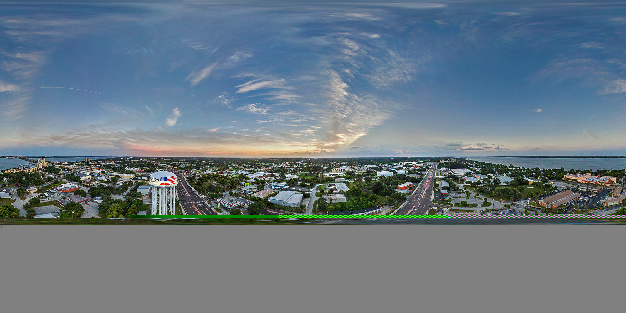cocoa-water-tower-sunset-aerial-pano-2000