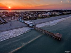 Cocoa Beach Pier Aerial