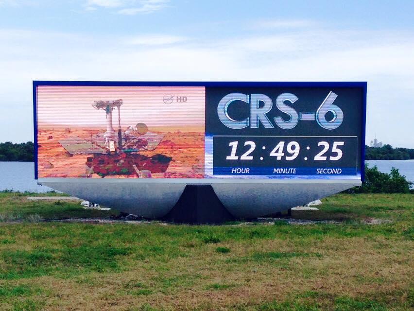 CRS-6 Countdown Clock