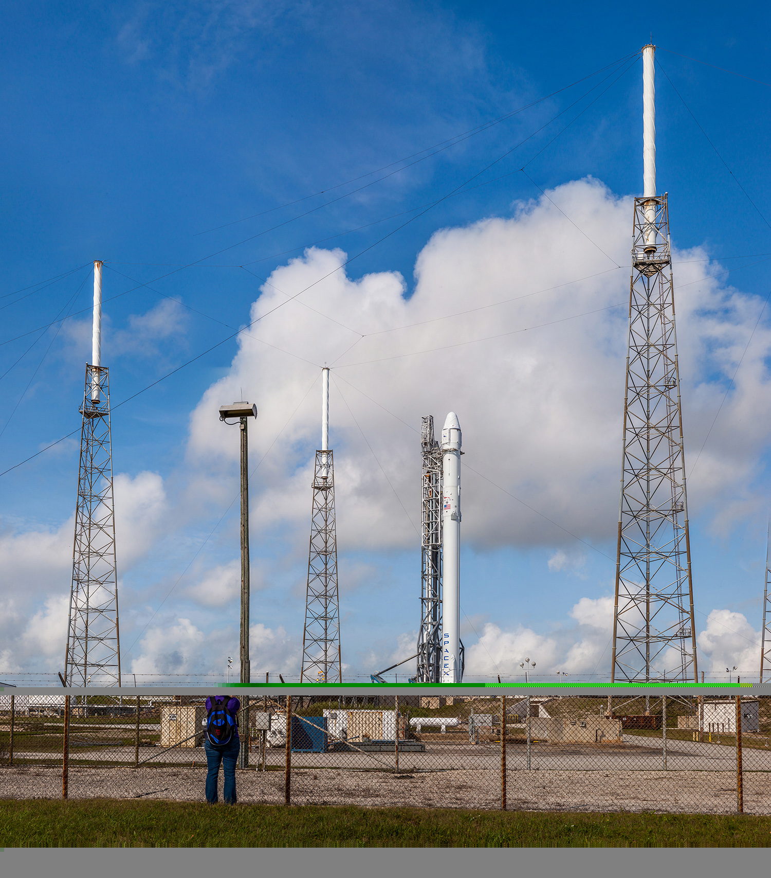 SpaceX Falcon 9 on the pad