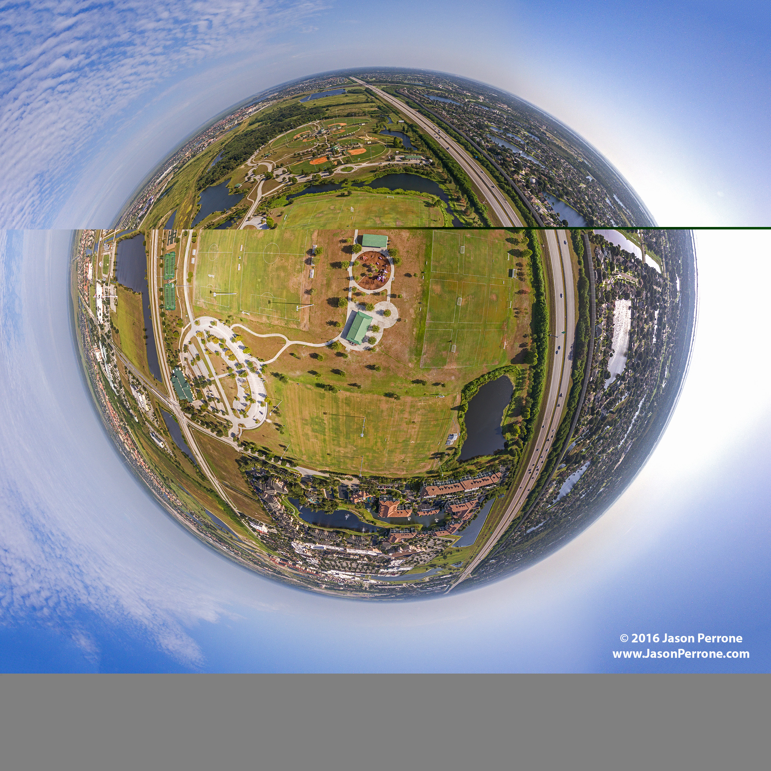Viera Regional Park Aerial Little Planet