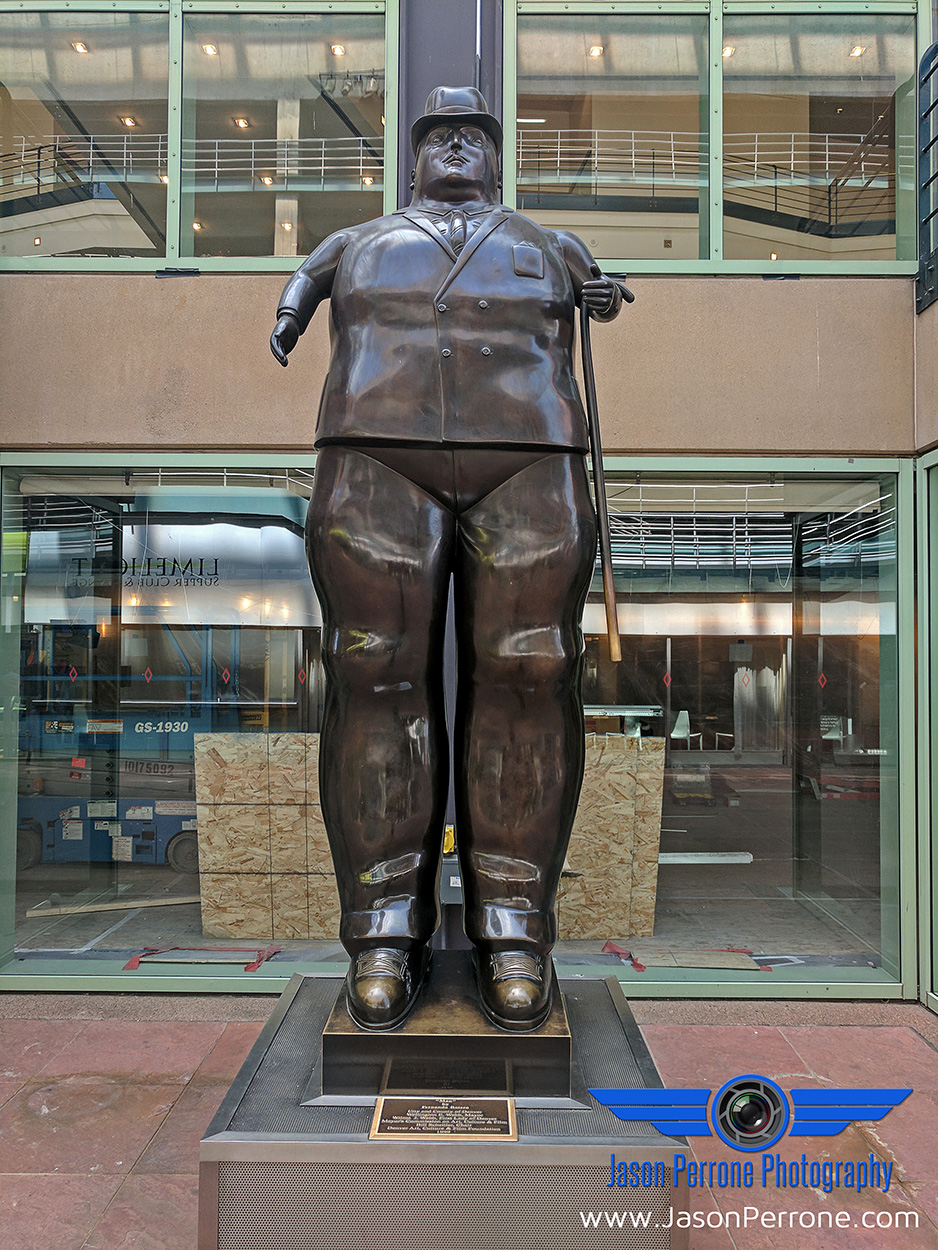 The Man by Colombian artist, Fernando Botero