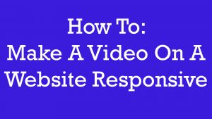 responsive video embed tutorial