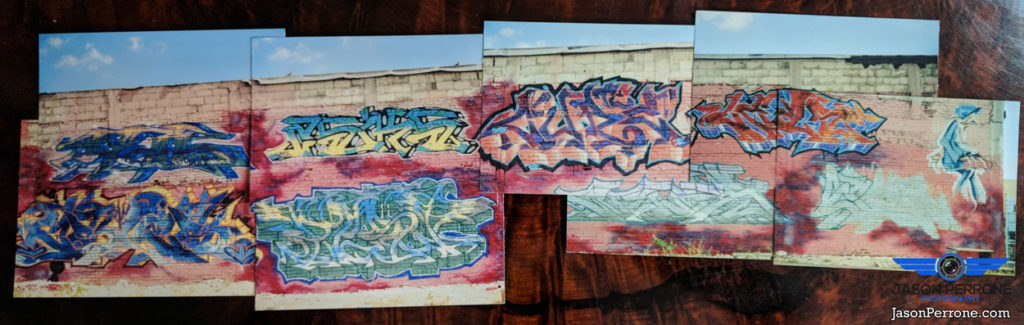 South Miami street art mural panoramic. date 1998