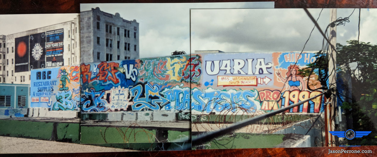 South Miami street art mural panoramic. date 1999