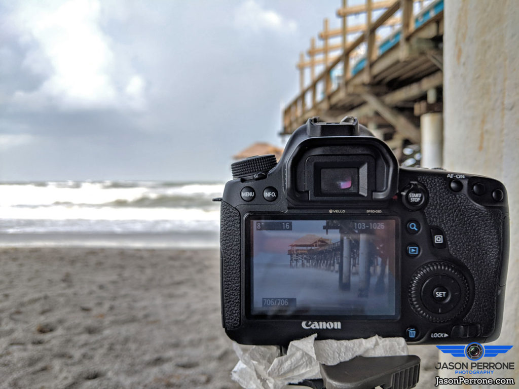 Capturing a long exposure image at the world famous Cocoa Beach Pier.