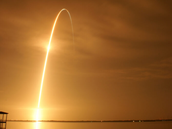 The last night launch of a Space Shuttle on August 28th, 2009.