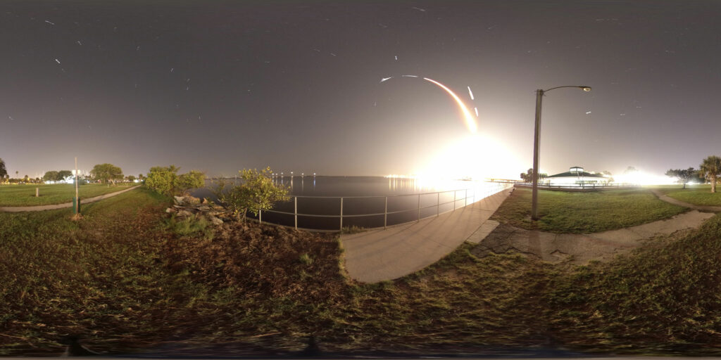 A SpaceX Falcon 9 rocket lifts off from launch complex 40 at the Cape Canaveral Air Force Station carrying the CRS-17 mission to the International Space Station.