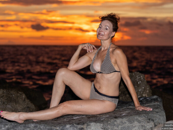 Mary D. Beach Bikini Sunset Session