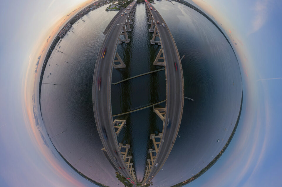 Indian River little planet at sinset