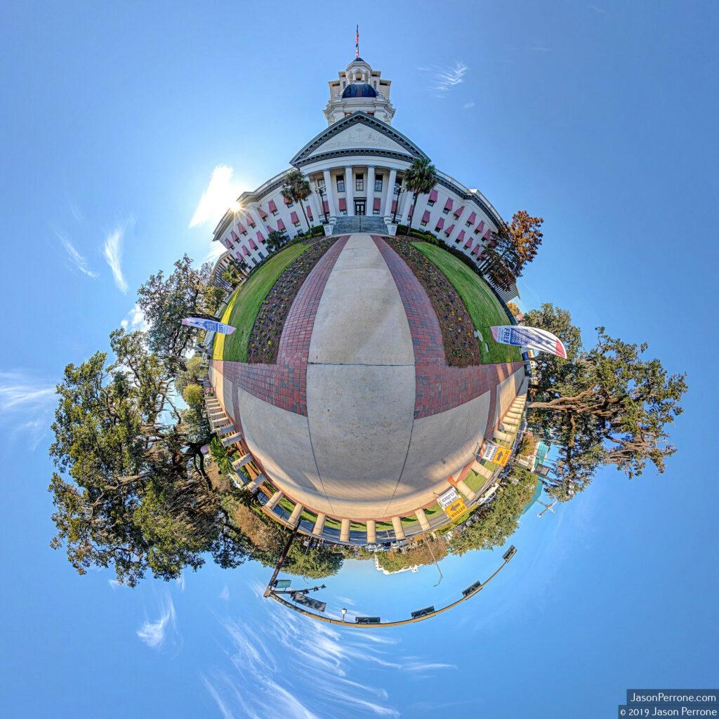Historic Florida Capitol Building Little Planet. Image 2019