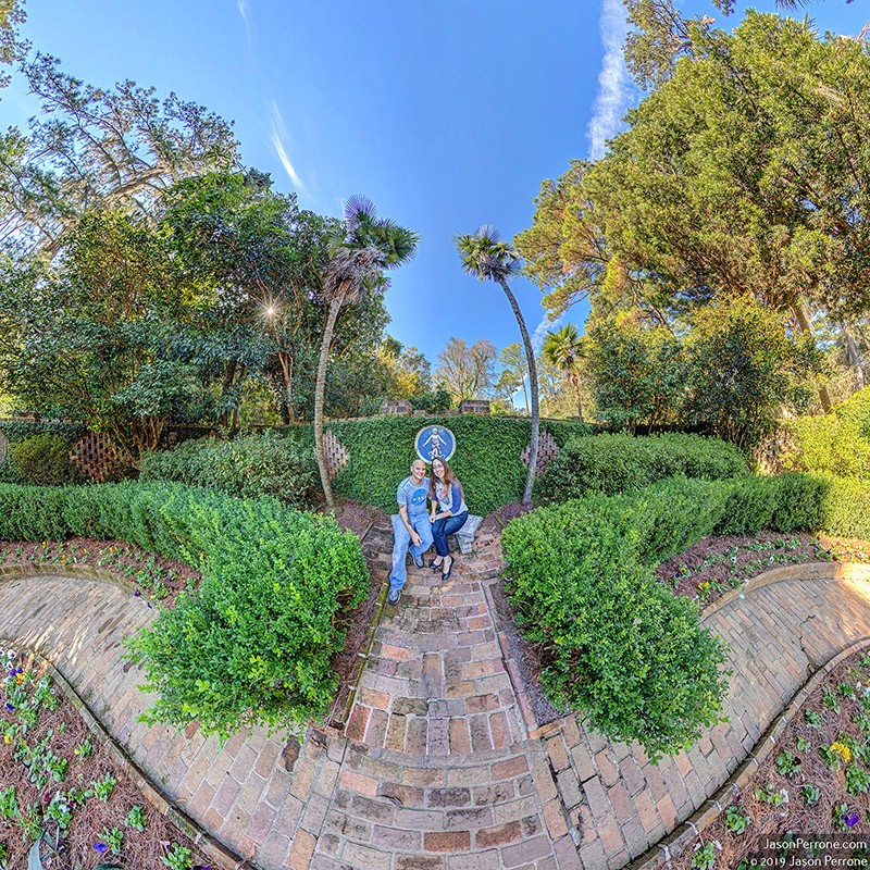 Selfies in the secret garden at the Alfred B. Maclay Gardens State Park in Tallahassee, Florida.