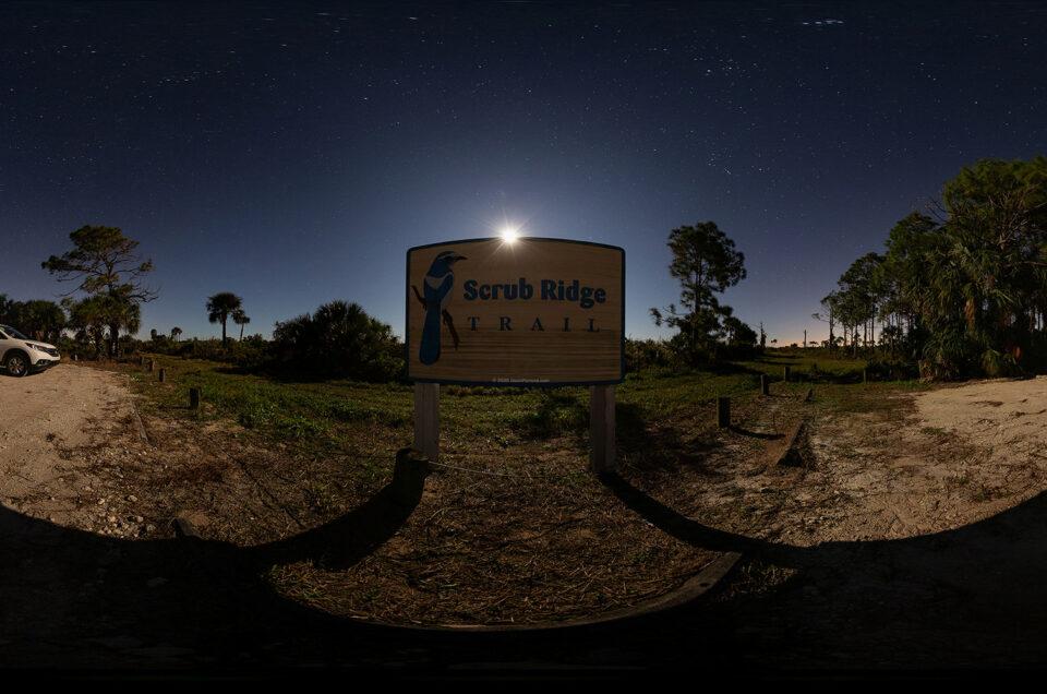 Scrub Ridge Trail Night Panoramics